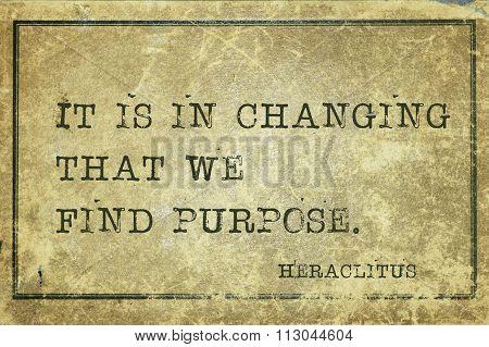 Purpose Change Heraclitus