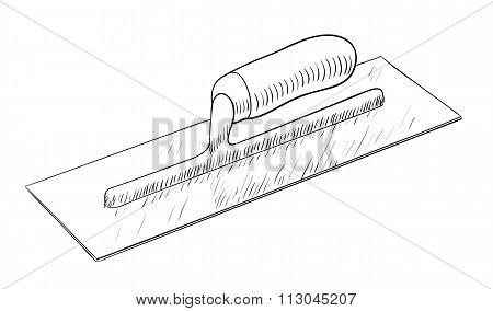 Plastering trowel illustration
