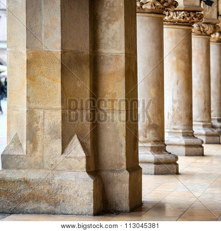 Passage Of The Gothic Hall With Columns