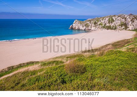 Beautiful Beach, Langre, Cantabria, Spain