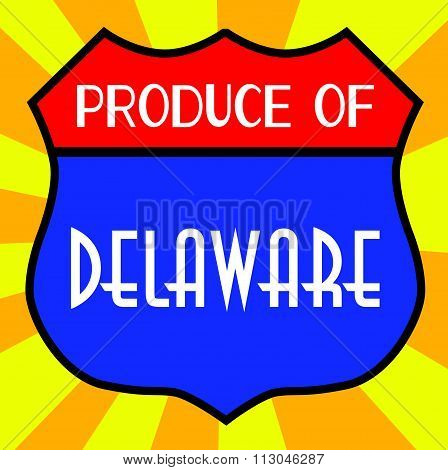 Produce Of Delaware Shield
