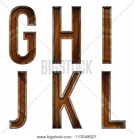 Wooden Block Letter