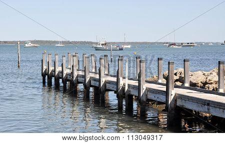 Boats and Dock: Mandurah, Western Australia