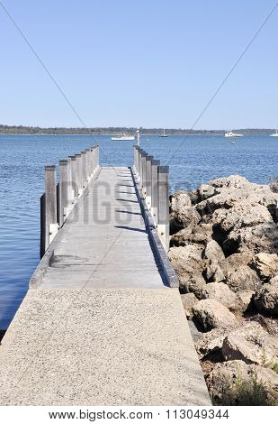 Dock on the Mandurah Foreshore, Australia
