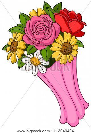 Vector flower bouquet
