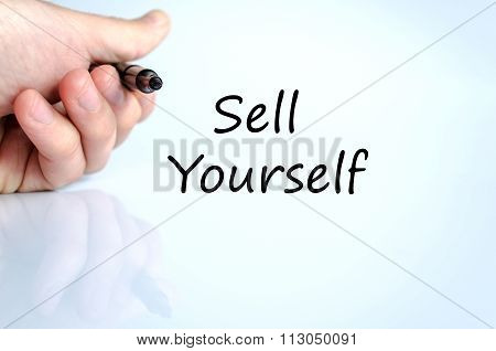Sell Yourself Text Concept