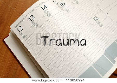 Trauma Write On Notebook