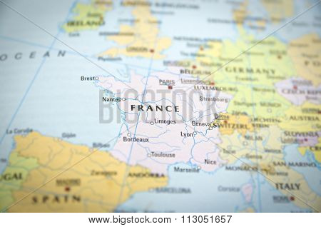 France On Map..