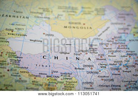 China On Map..