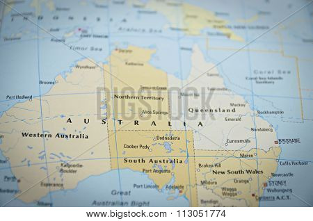 Australia On Map..
