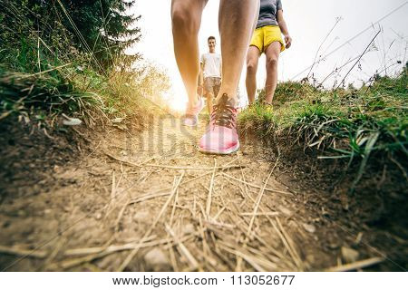 People Walking In The Nature