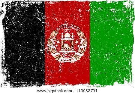 Afghanistan Vector Flag On White