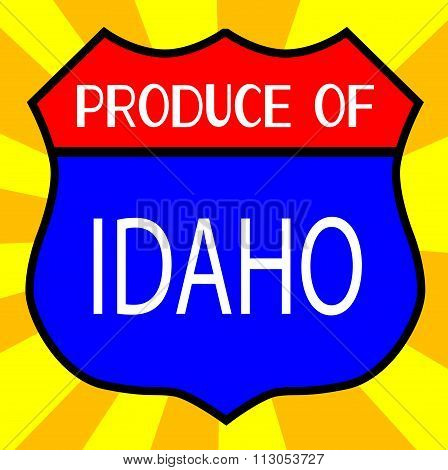Produce Of Idaho Shield
