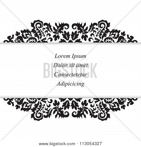 Stock Vector Orient Floral Pattern. Card, Brochure, Invitztion, Template