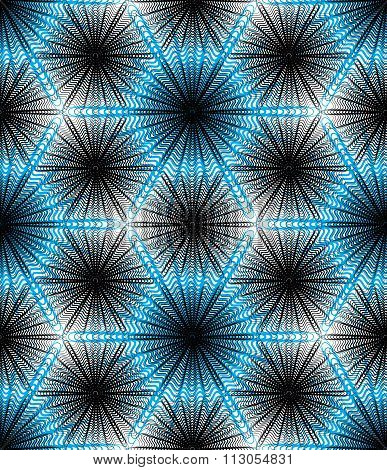Vector blue Stripy Endless Overlay Pattern, Art Continuous Geometric Background With Graphic Lines