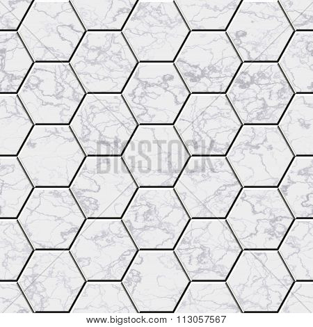 Cobble Hexagon Marble Stone Background