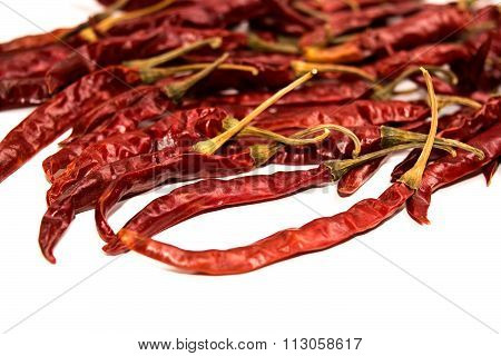 Dry Red Chilli isolate on white background
