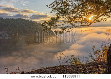 Early Morning Sunrise At Letchworth State Par