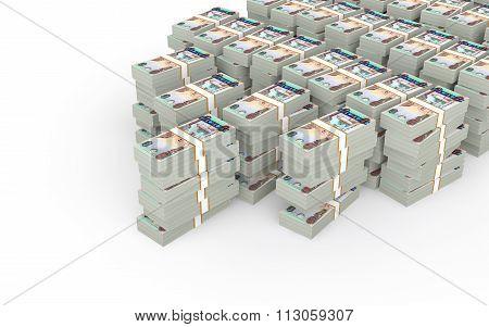 3d stacks of UAE dirhams