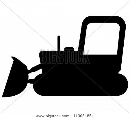 icon excavator colored illustrated on a white background