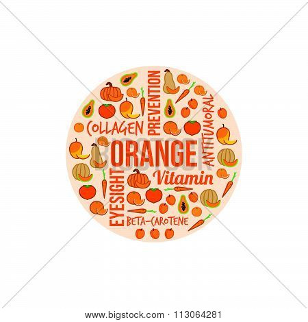 Orange Vegetables And Fruits
