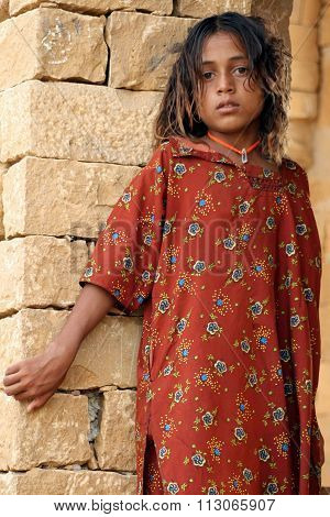 Little girl in India