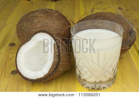 Preparing coconut refreshing drink. Tropical drink.
