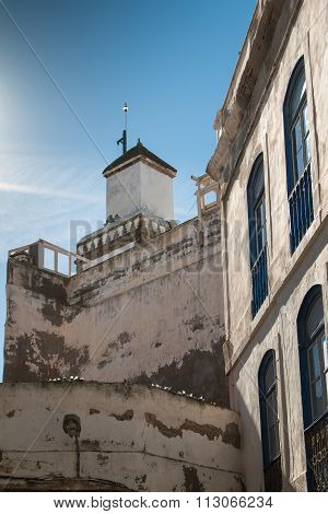 Houses And Minaret Of A Mosque, Morocco