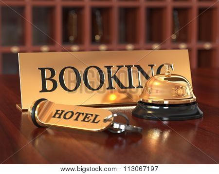 Booking Hotel Room Concept