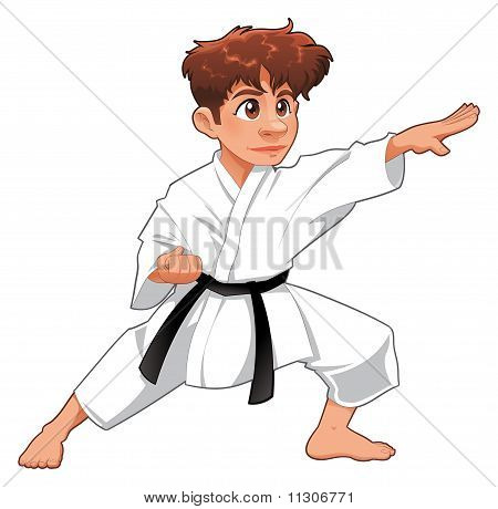 Baby Karate Player.