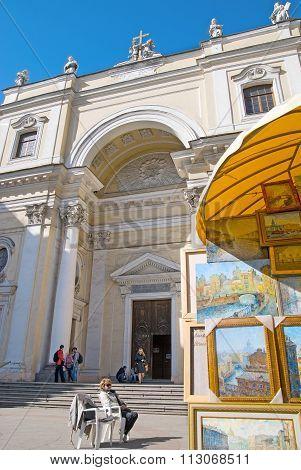 Saint-Petersburg. Russia. The Catholic Church of St Catherine