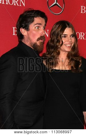 PALM SPRINGS - JAN 2:  Christian Bale, Sibi Blazic at the 27th Palm Springs International Film Festival Gala at the Convention Center on January 2, 2016 in Palm Springs, CA