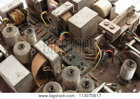 Old Retro Electronic Board
