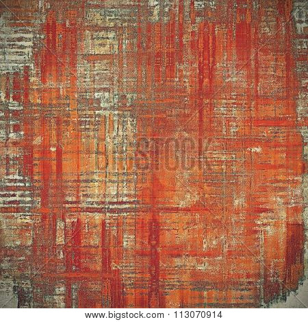 Vintage antique textured background. With different color patterns: yellow (beige); brown; gray; red (orange)