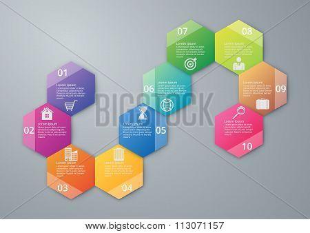Vector illustration infographics ten options