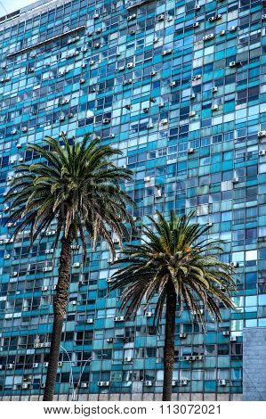 Modern Architecture On The Plaza Independencia In Montevideo