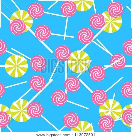Sweet candy seamless pattern. Colorful sugar wrap paper.