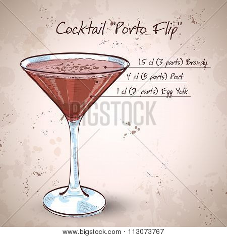 Porto Flip Cocktail