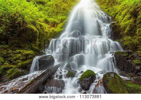 Fairy Falls In Columbia River Gorge, Oregon.
