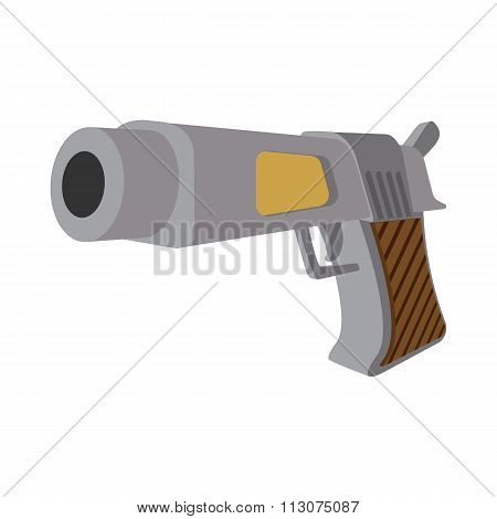 Pistol cartoon icon