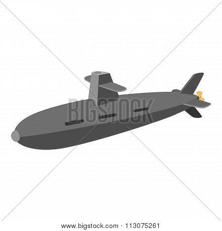 Submarine cartoon icon