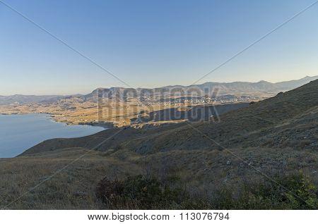 The Mountainous Semi-desert Area At The Black Sea Coast.