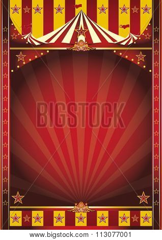 circus frame poster. A circus poster with a large frame for your message