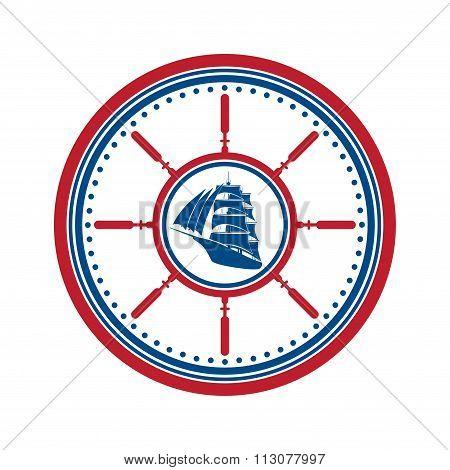 Boat symbol isolated