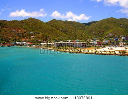 Tortola harbour in the West Indies