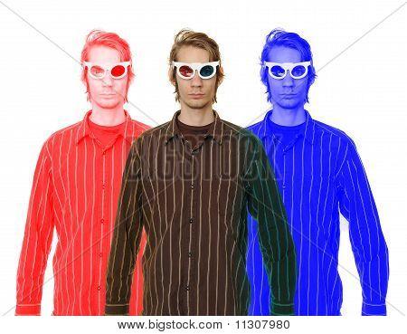 Mann mit 3D Brille