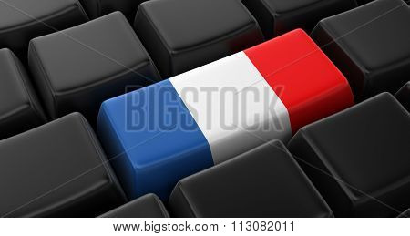 Key with French Flag