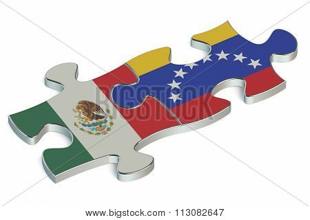 Venezuela And Mexico Puzzles From Flags