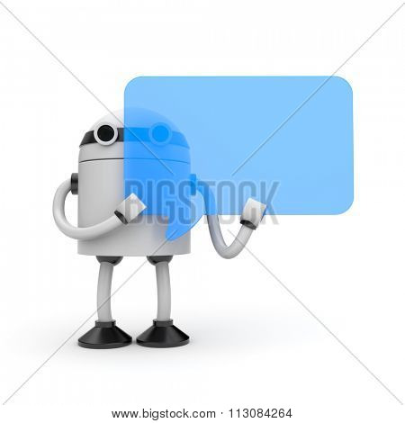 Robot with speech bubble