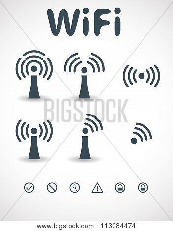 Wi-Fi Transmission of Data. Vector Illustration.